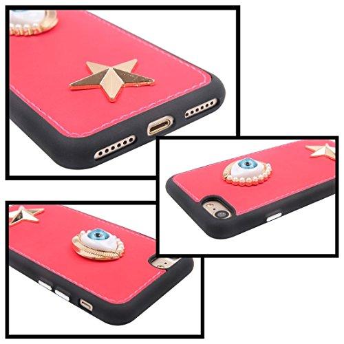 MXNET Caso de Iphone 7, caja sensible al calor del teléfono TPU + caja protectora material del metal del caso trasero ,Funda para iphone 7 ( SKU : Ip7g5847b ) Ip7g5847b