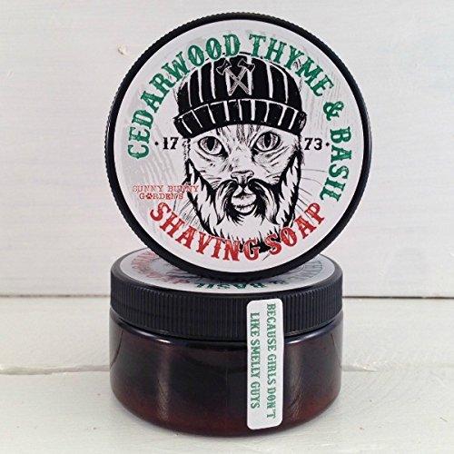 Cedarwood Mens Shaving Soap, Manly Shaving Soap Jar, Wet Shave, Lumberjack Cat, Unique Gifts For Men, Funny Gifts For Men, Mens Shave Jar
