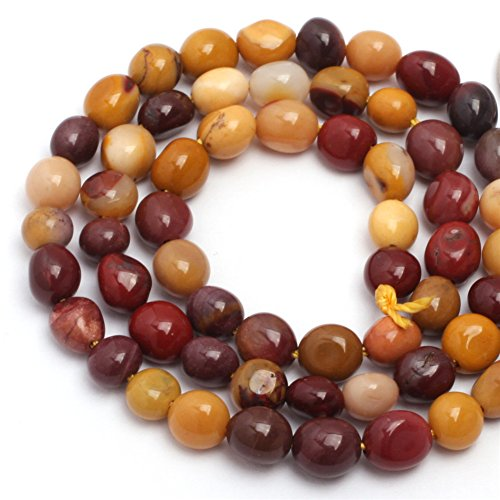 Jasper Multi Strand - Natural 6x8mm Freeform Mookaite Jasper Gemstone Loose Beads In Bulk For Jewelry Making Wholesale Beads One Strand 15