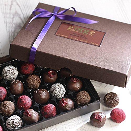 24 Raw Organic Chocolate Truffles (No Added Sugar, Dairy Free, Gluten Free, Soya Free, Superfood Chocolates)