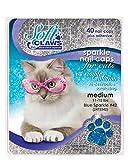 Soft Claws Feline Nail Caps - Medium - Blue Sparkle for Cats - 11-14 lbs