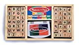 Melissa & Doug Alphabet Stamp Set, Stamps with Lower-Case and Capital Letters, 4 Colors, 56-Stamps, 1.5