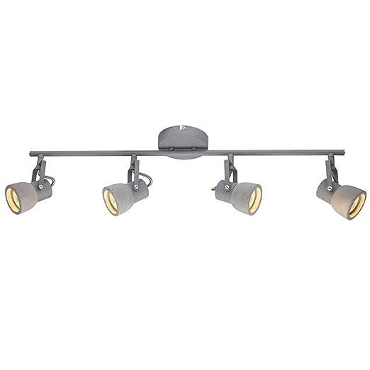 LED Metal Y Cemento GU10 Ronda Proyectores Del Techo Luz De Techo ...