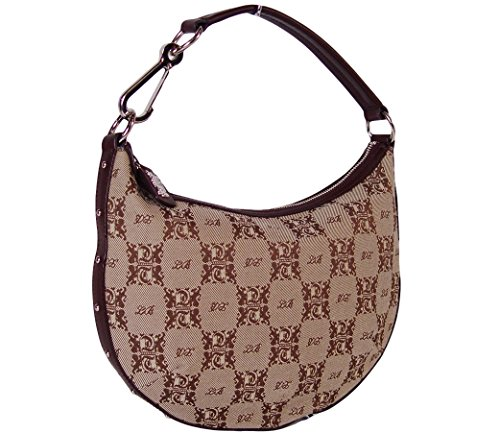 Tempo by Leonello Borghi Tuscany Logo Hobo Bag with Leather Trim