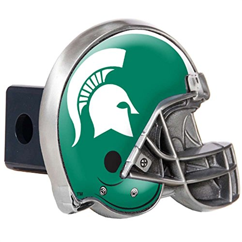 Great American Products College Michigan State Hitch Cover Helmet, Black, One - College Helmet Hitch Covers