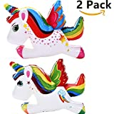 sunnylifyau 2 pack large Unicorn Squishy - Unicorn cartoon Cute Kawaii Soft Squishies Toy Slow Rising Kids Party Toys Stress Reliever Toy Stress Relief,Scented Soft Stress Relief Toy