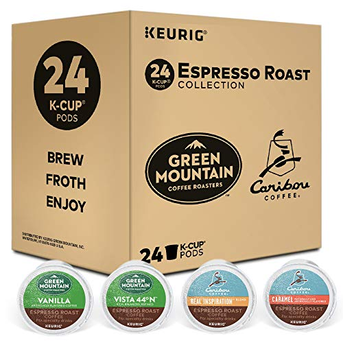 - Keurig Espresso Roast Variety Sampler Pack, Single Serve Coffee K-Cup Pod, Variety, 24