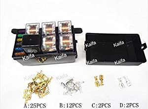 51nToj2EuHL._SX300_ amazon com cnkf 1 set car seat relay fuse box relay holder 5 relay fuse box at virtualis.co