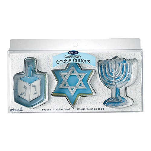 Rite Lite LTD Metal Chanukah Cookie Cutters (Hanukkah Cookie Cutters)