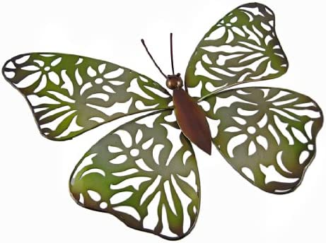 Lace Butterfly Wall Decor – Green 19.25 x13 x1.5