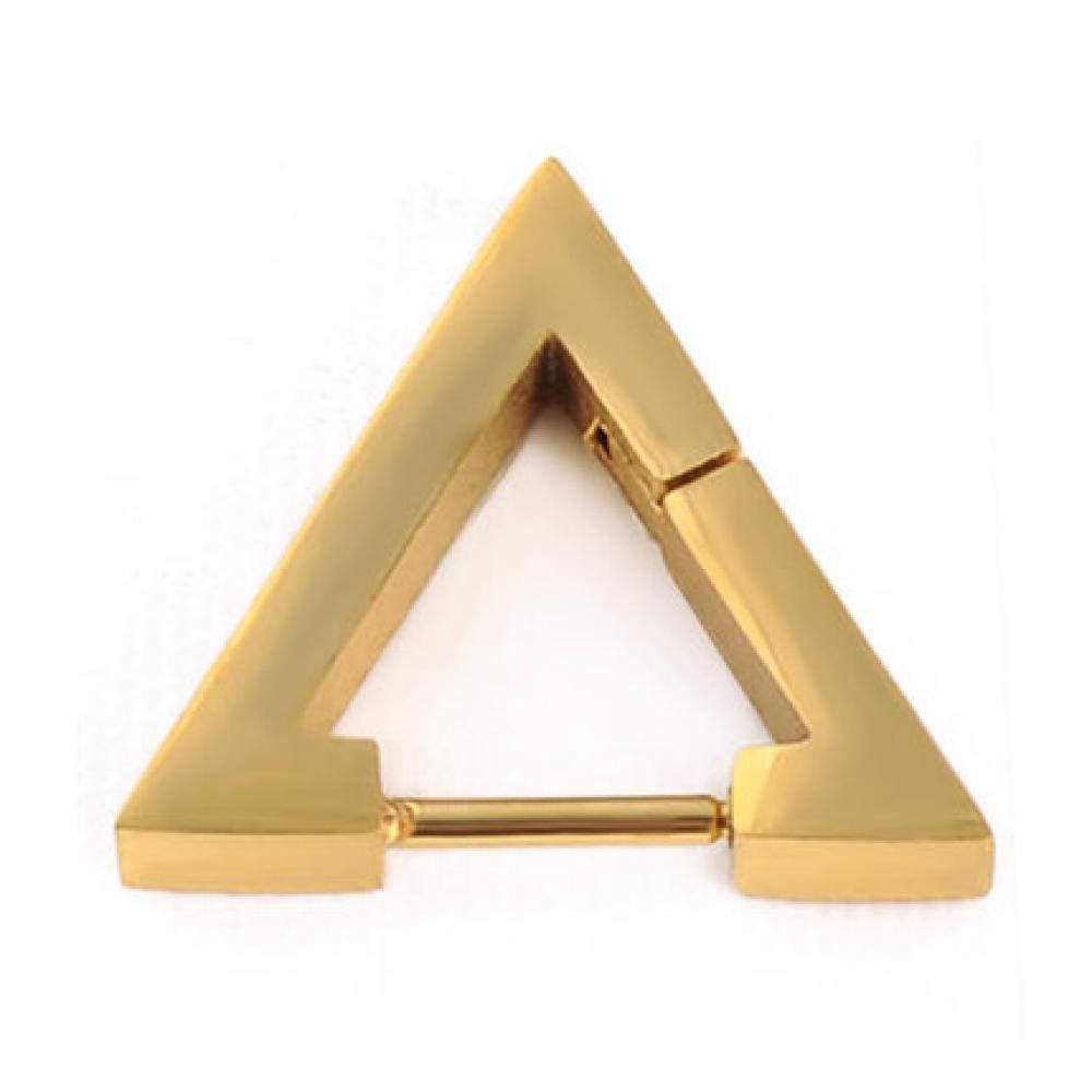 JFHGNJ Style Boucles doreilles pour Hommes Femmes Titane Acier Triangle Stud Boucles doreilles D/éclaration Bijoux Piercing Oreille Stud-Or/_C/élibataire
