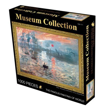 "Museum Collection 1000-Piece Claude Monet ""Impression, Sunrise"" Jigsaw Puzzle 63152-16"