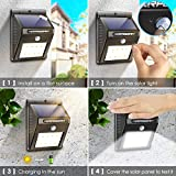 URPOWER Solar Lights Wireless Waterproof Motion