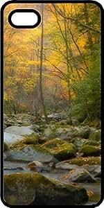 Autumn Fall Colors Mountain Stream Black Plastic Decorative iPhone 6 Plus Case