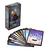 Tarot Cards Future Fate Indicator Forecasting English Game Card Set Colorful Box Gifts for Vintage Witch Board Game