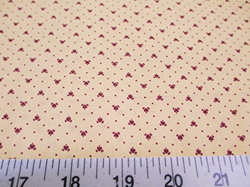 Calico Quilting Fabric - Fabric Cotton Apparel Keepsake Calico Burgundy Heart T12