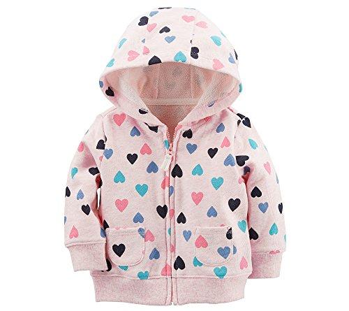 Carter's Baby Girls' Heart Print Zip up Hoodie 3 -