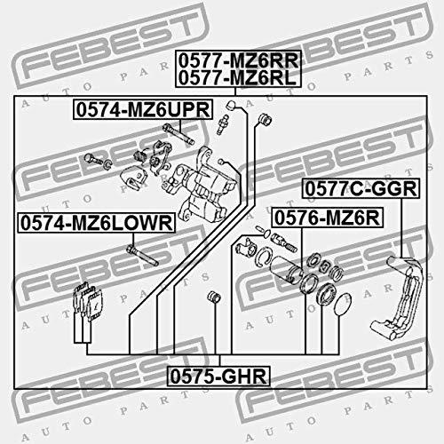 0577C-GGR Febest BREMSSATTEL HALTER HINTEN