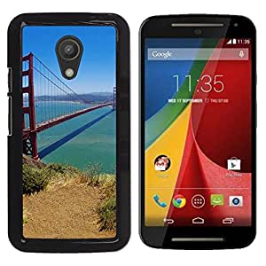 Impact Case Cover with Art Pattern Designs FOR Motorola G 2ND GEN II San Francisco Bridge Betty shop