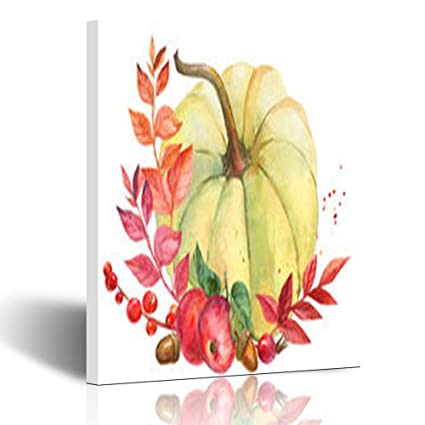Amazon com: Homeyard Canvas Prints Wall Art Happy Watercolor