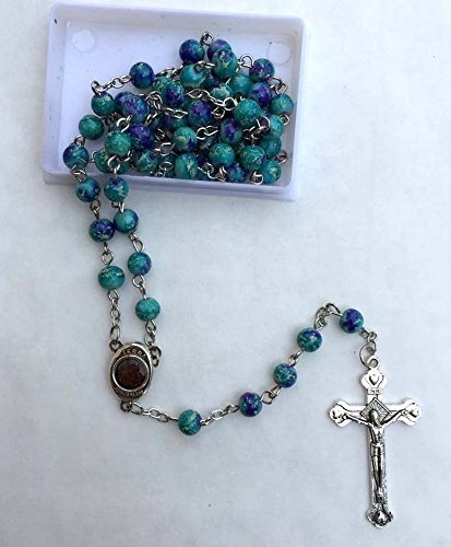 Rosary Turquoise Medal - 3