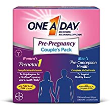 One A Day Men's & Women's Pre-Pregnancy Multivitamin Couple's Pack, 30+30 Count