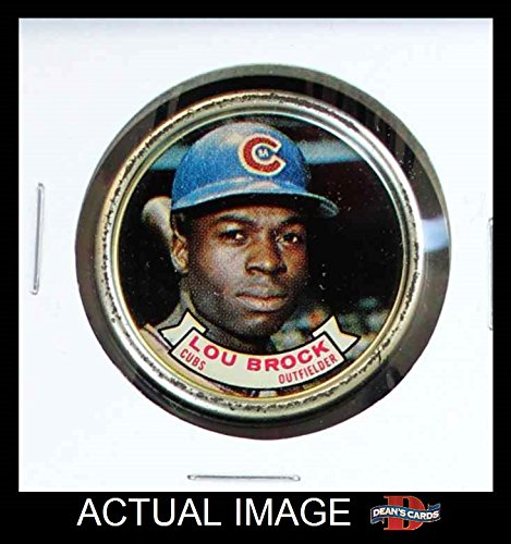 1964 Topps Coins # 97 Lou Brock Chicago Cubs (Baseball Card) Dean's Cards 5 - EX (Chicago Cubs Coin Set)