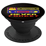 Never Forget Floppy Disk,VHS and Audio Cassette Tapes - PopSockets Grip and Stand for Phones and Tablets