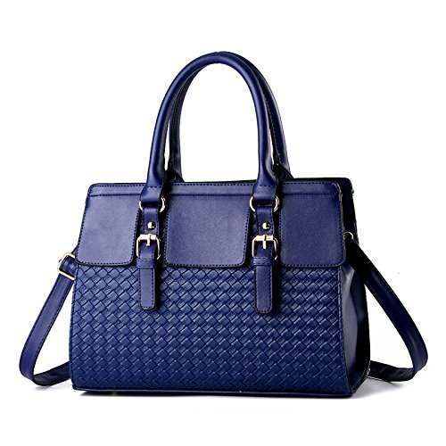 Negro Navy Bag Bolso Bolso Ms Lady GUANGMING77 Satchel Blue nwqvR6xYTg