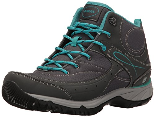 Hi-Tec Women's Equilibrio Bijou Mid I Hiking Shoe, Charcoal/Tile Blue, 8 B(M) US (Superstore Tile)