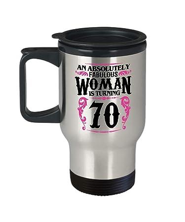 70 Year Old Women Travel Coffee Mug Funny Gifts