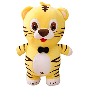 Kasien 10 Inch Cute Tiger Plush Toy Pillow Stuffed Animal Toy Soft