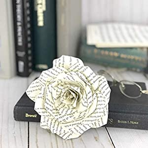 Paper Book Page Rose 2