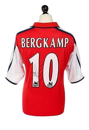 quality design 7f554 dfa33 Dennis Bergkamp Signed Shirt Arsenal Autograph 00/02#10 Home ...