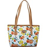 Aurielle-Carryland Fruit Print Tote (Cream)