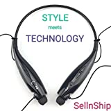 Lambent HBS-730 Neckband Bluetooth Headphones Wireless Sport Stereo Headsets Handsfree with Microphone for Android, Apple Devices
