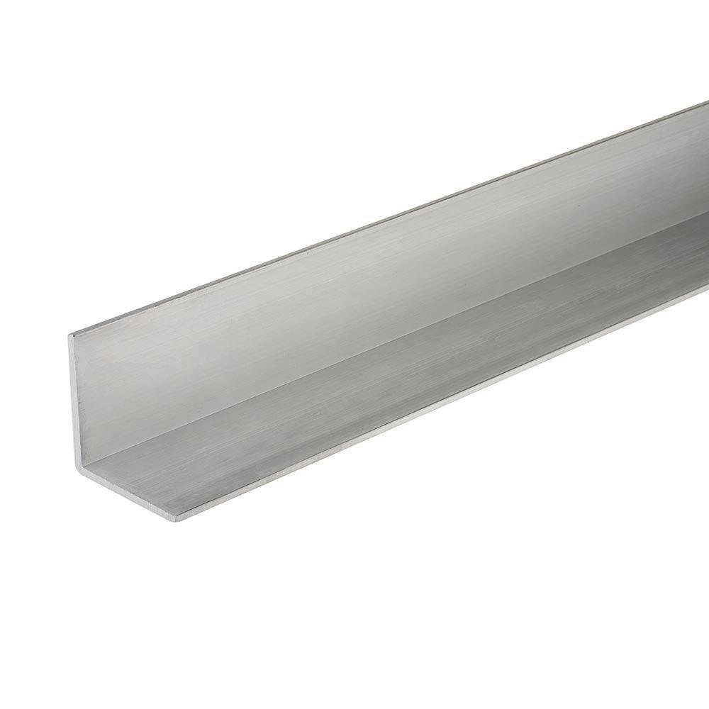 Everbilt 1-1/4 in. x 48 in. Aluminum Angle with 1/16 in. Thick