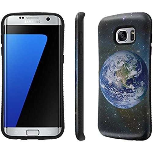 Galaxy S7 Edge / GS7 Edge Case, [NakedShield] [Black Bumper] Heavy Duty Shock Proof Armor Art Phone Case - [Earth] for Samsung Galaxy S7 Edge / GS7 Edge [5.5 Sales