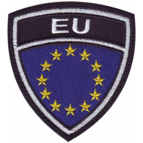 European Union EU Crest Badge Flag Embroidered Sew On Patch (Eu Flags)