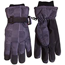 N'Ice Caps Boys Thinsulate and Waterproof Digital Squares Ski Gloves