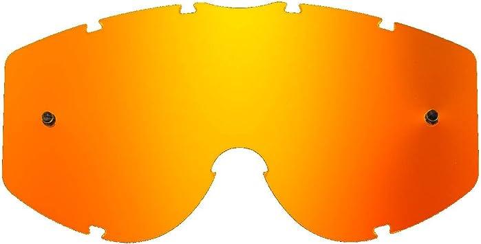 3301 Naswa 3450 Riot SeeCle 41C113 lenti di ricambio per maschere arancione specchiato compatibile per maschera Progrip 3200 Venom 3204 Dark Side 3400 Menace 3201 Atzaki