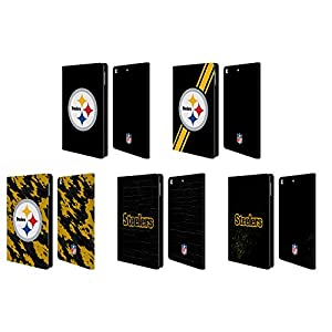 Official NFL Pittsburgh Steelers Logo Leather Book Wallet Case Cover For Apple iPad mini 4 at Steeler Mania
