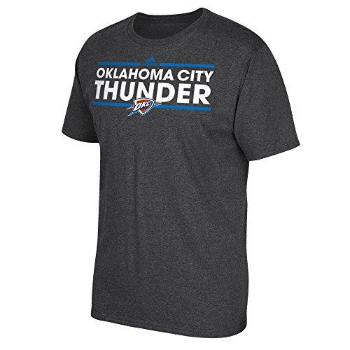 Tee Oklahoma - NBA Oklahoma City Thunder Men's Dassler Short Sleeve Go-To Tee, X-Large, Gray