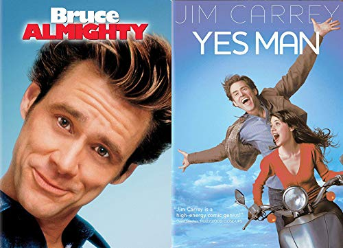 The Devine Power of the Word Yes: Bruce Almighty + Yes Man (2 Jim Carrey Feature Films -DVD Bundle)