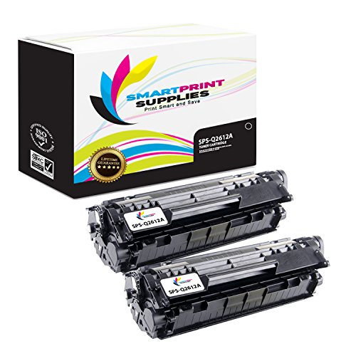 Smart Print Supplies Compatible 12A Q2612A Black Toner Cartridge Replacement for HP Laserjet 1010 1012 1015 3015 3050 Printers (2,000 Pages) - 2 Pack
