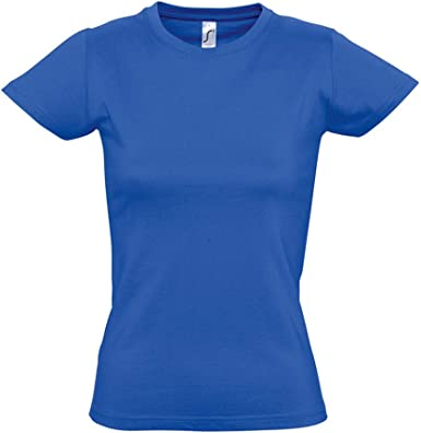 SOLS- Camiseta de manga corta Imperial para chica/mujer: Amazon.es: Ropa y accesorios