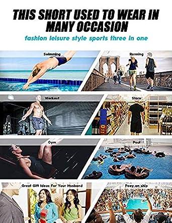 Mens Beach Shorts Casual Swim Surf Trunks Swimwear Swimsuits for Surfing Walking Running Supernatural-Bandana-Blue