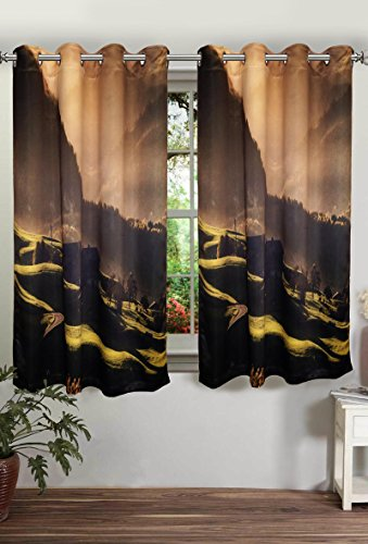 digitally printed mountain polyster blackout