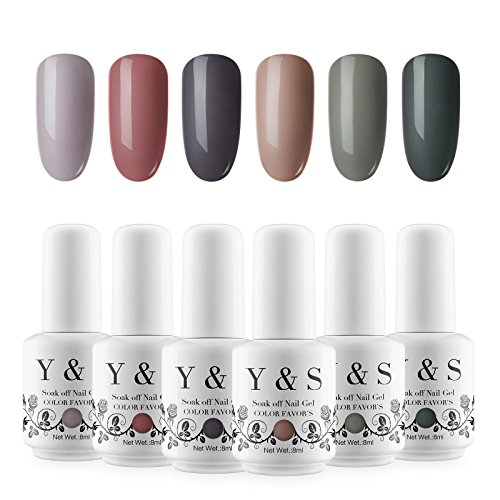 Yaoshun Soak Off Gel Nail Polish 6 Pcs/lot Coat Base Coat UV