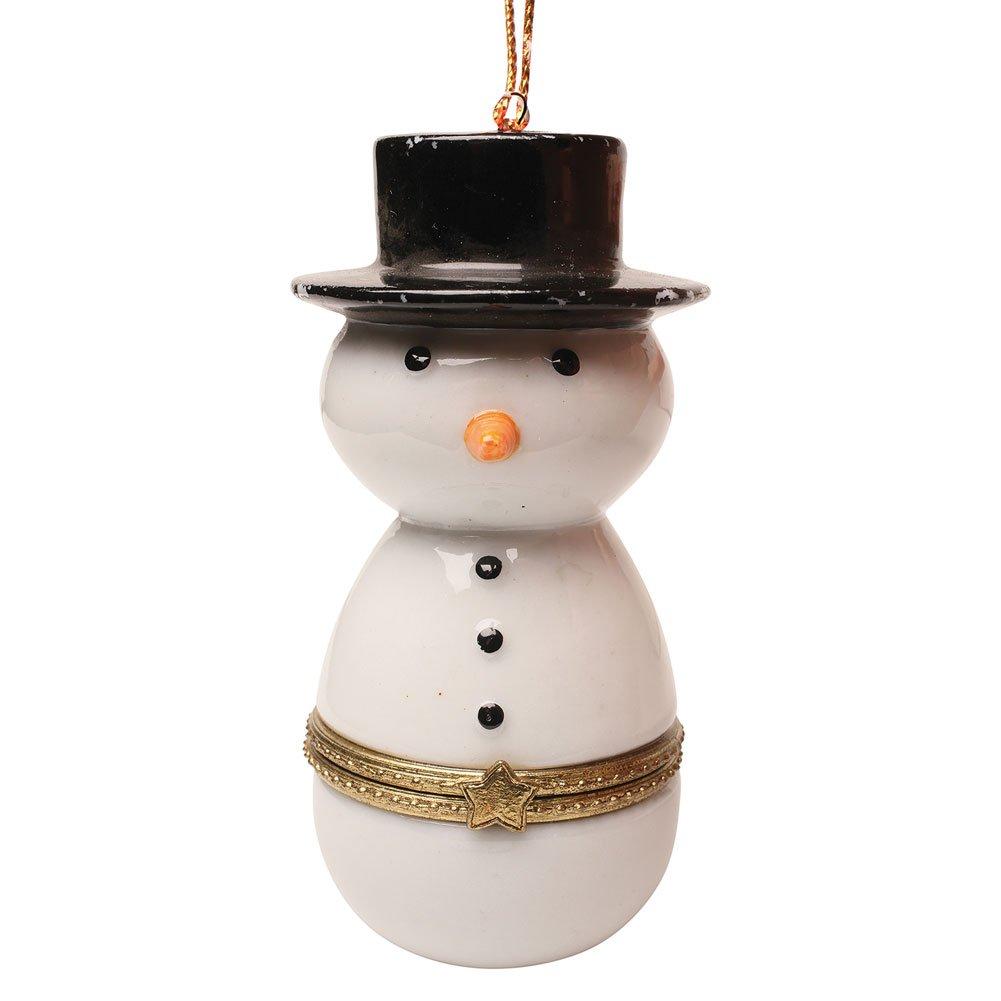 Snowman Trinket Box Ornaments